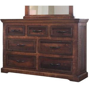 Rustic 7 Drawer Dresser