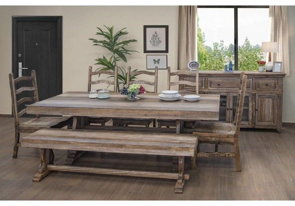 Marquez 7 PC CH Dining Room Set by International Furniture Direct at Sam Levitz Furniture