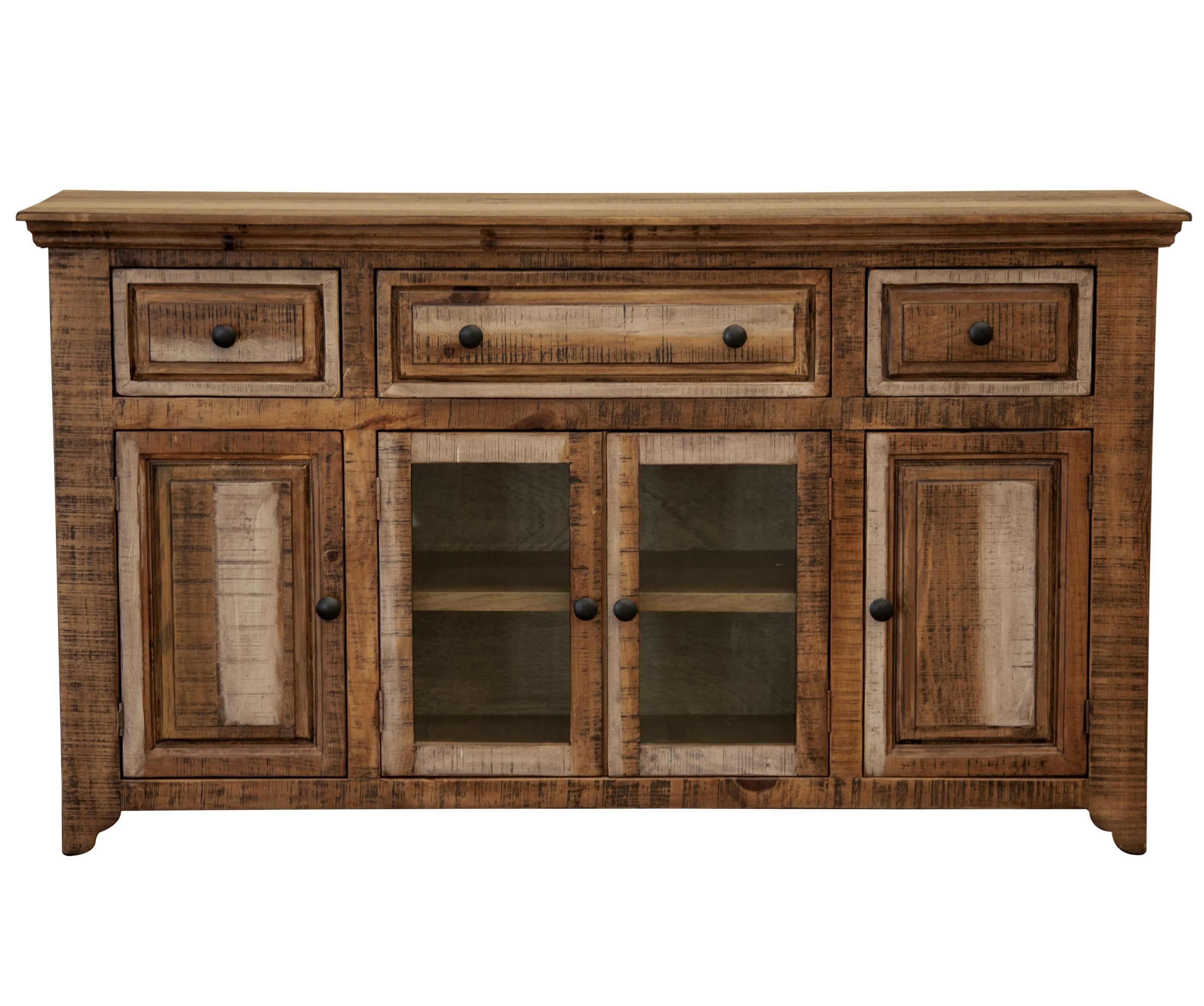 Marquez Console with 3 Drawers and 4 Doors by International Furniture Direct at Zak's Home