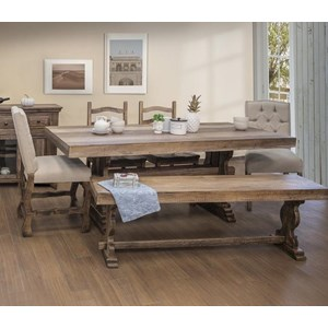 Counter Height 6-Piece Dining Set with Bench