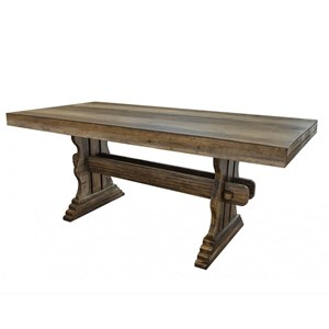 Rectangular Counter Height Table with Trestle