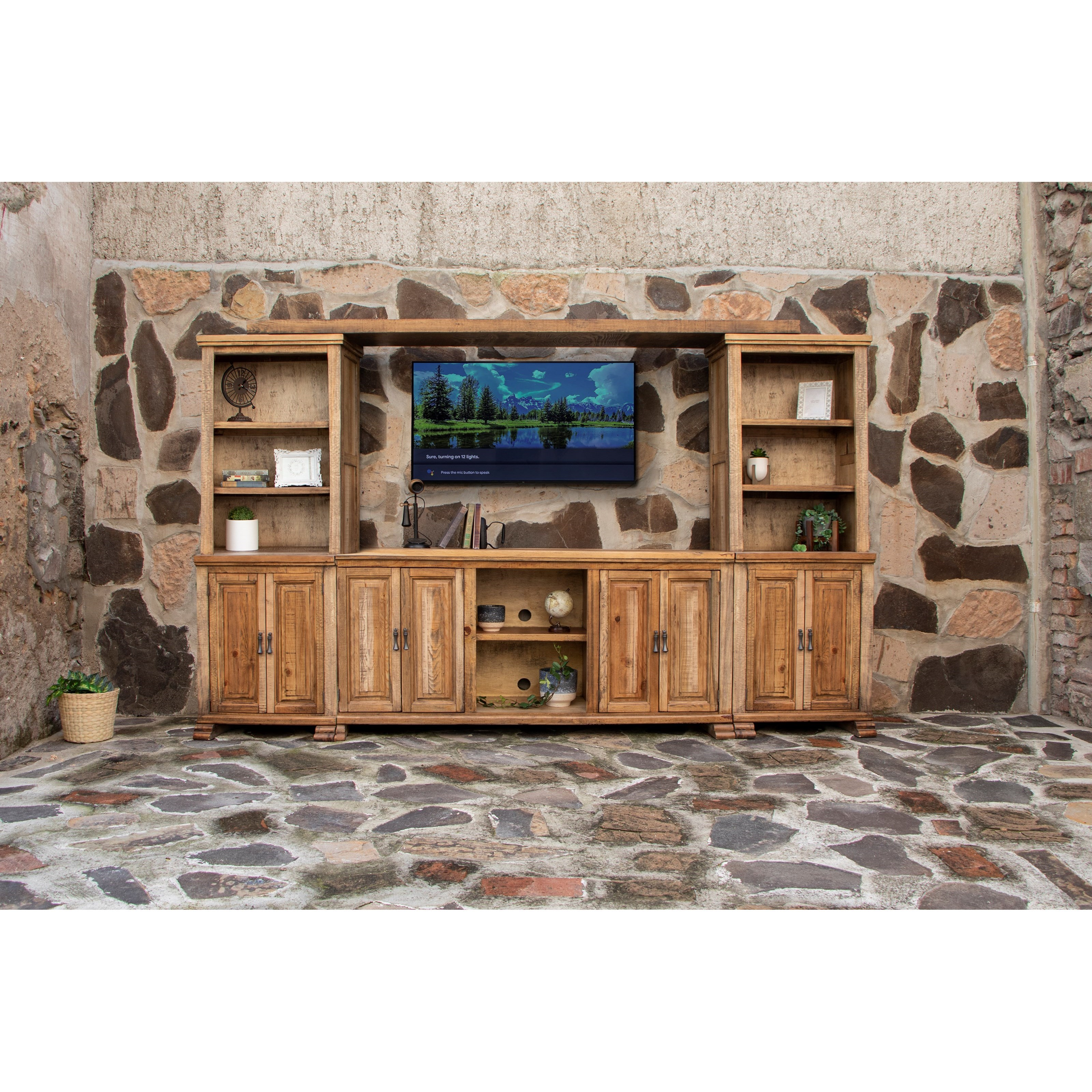 Marquez Wall Unit by International Furniture Direct at Zak's Home