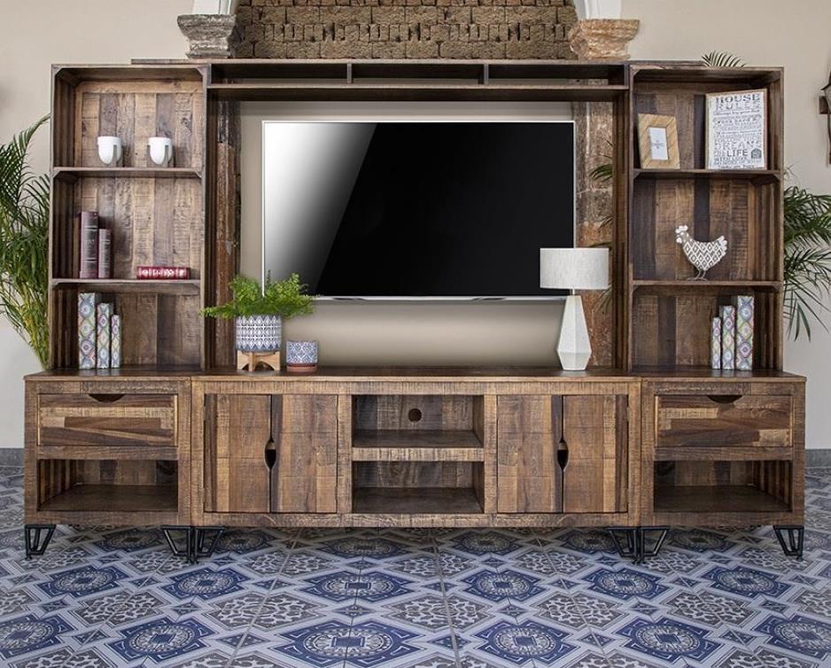 Maya Wall Unit by International Furniture Direct at Zak's Home