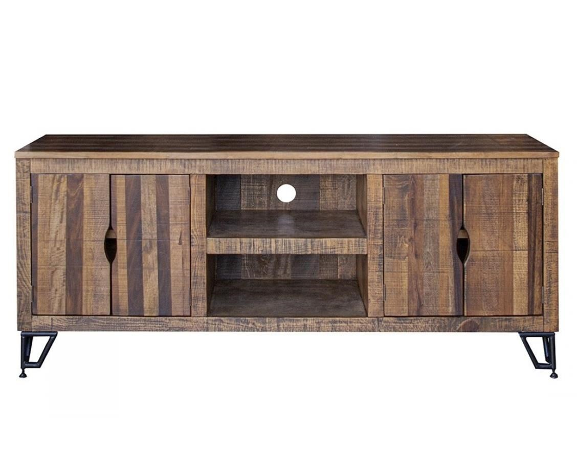 Maya TV Stand with 4 Doors by International Furniture Direct at Zak's Home
