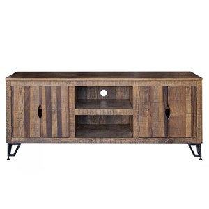 Rustic TV Stand with 4 Doors