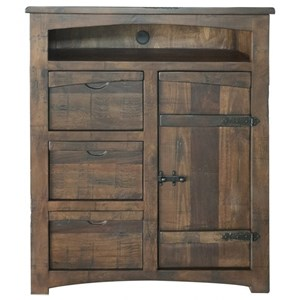 Rustic Great Chest for TV with 3 Drawers and 1 Door