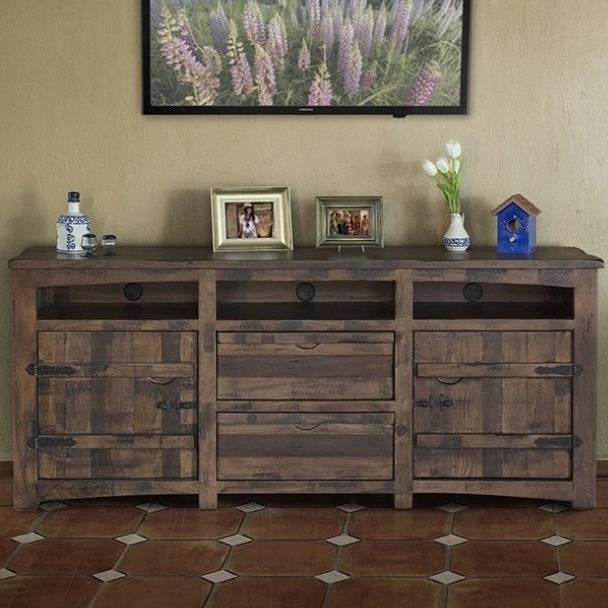 """Mezcal 80"""" TV Stand by International Furniture Direct at Goods Furniture"""