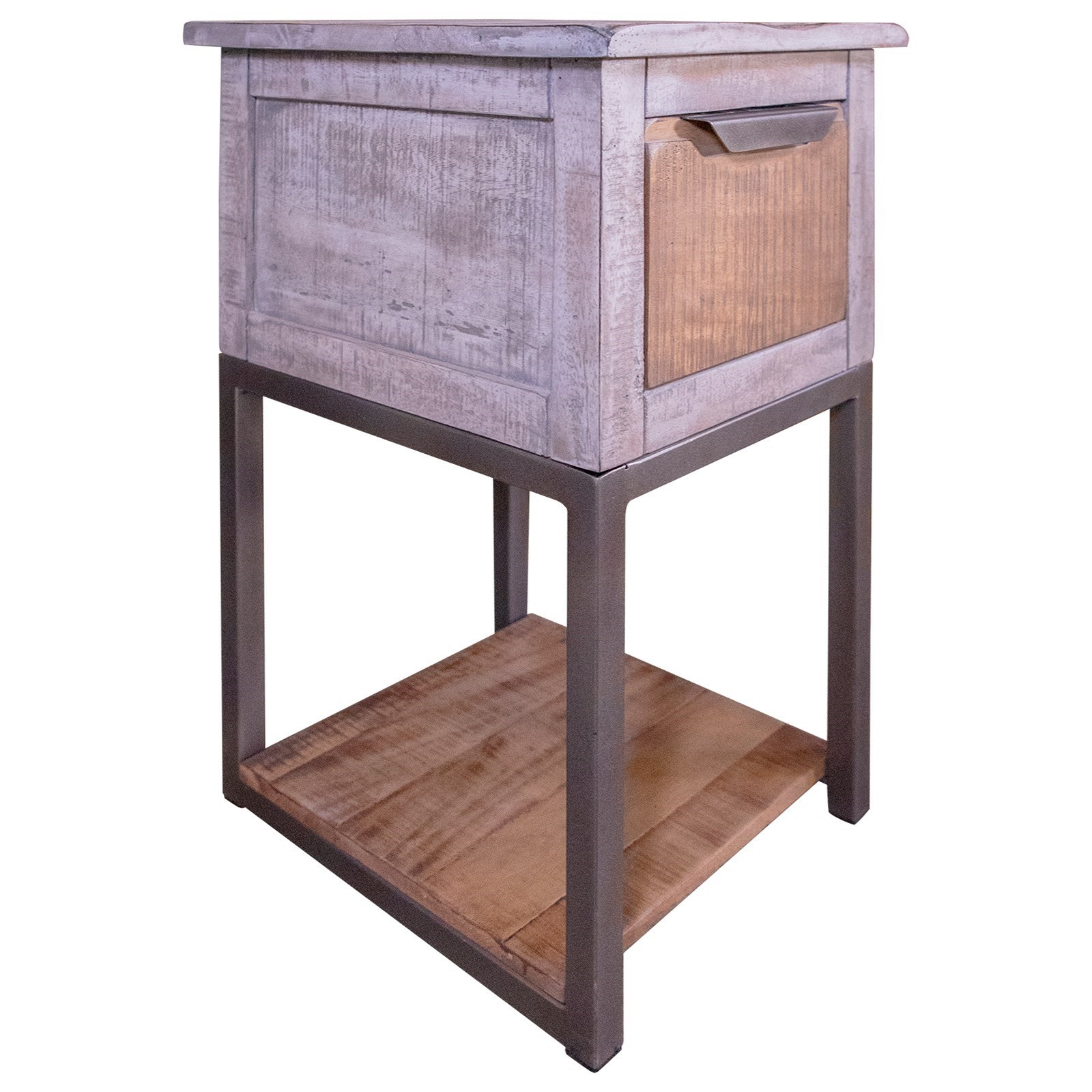 Mita Chairside Table by International Furniture Direct at Catalog Outlet