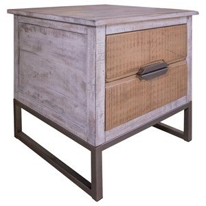 Transitional End Table with Drawers