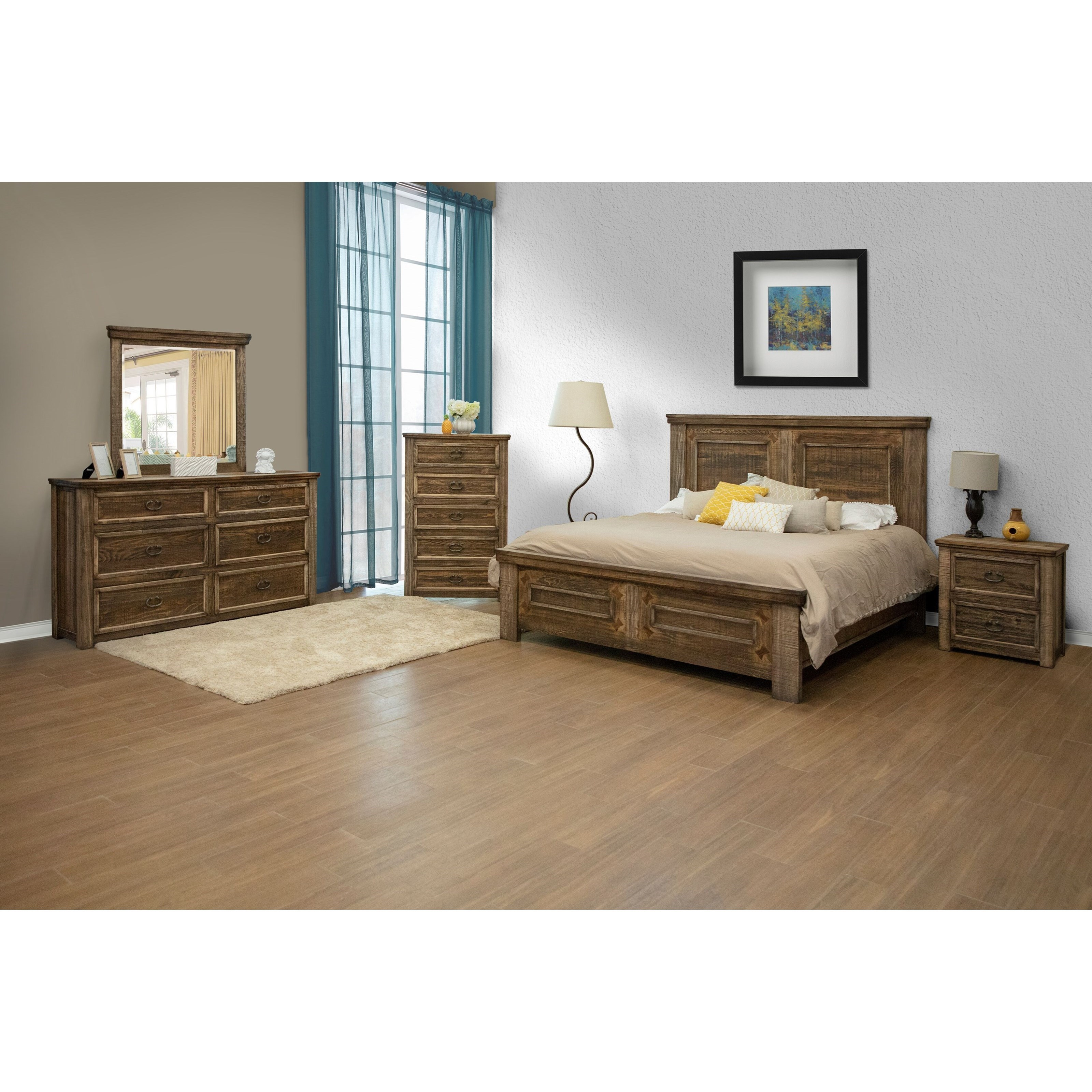 Montana King Bedroom Group by International Furniture Direct at Zak's Home