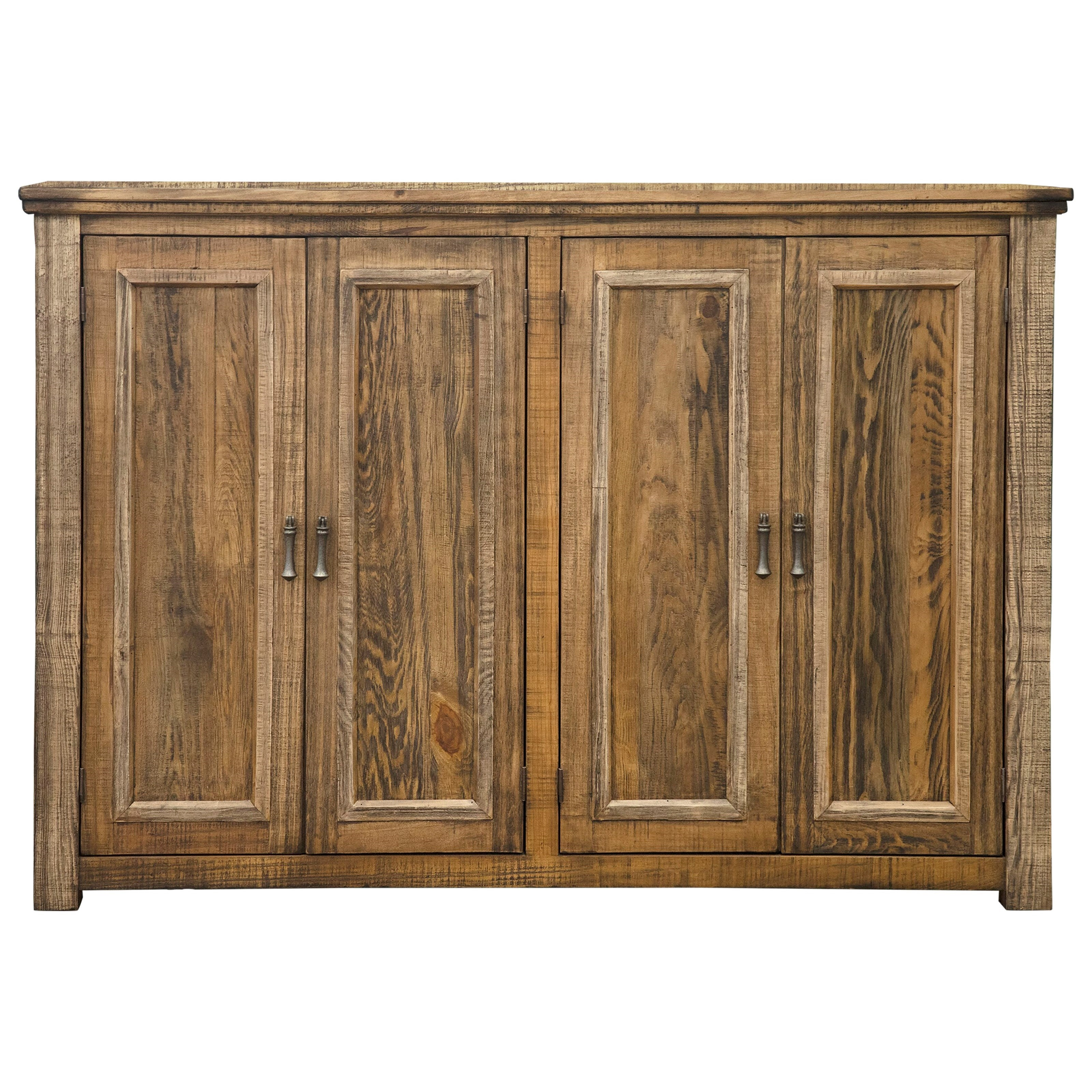 Montana Console with 4 Doors by International Furniture Direct at Miller Waldrop Furniture and Decor
