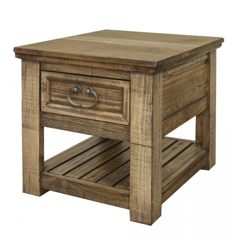 Montana Chair Side Table with 1 Drawer by International Furniture Direct at Catalog Outlet