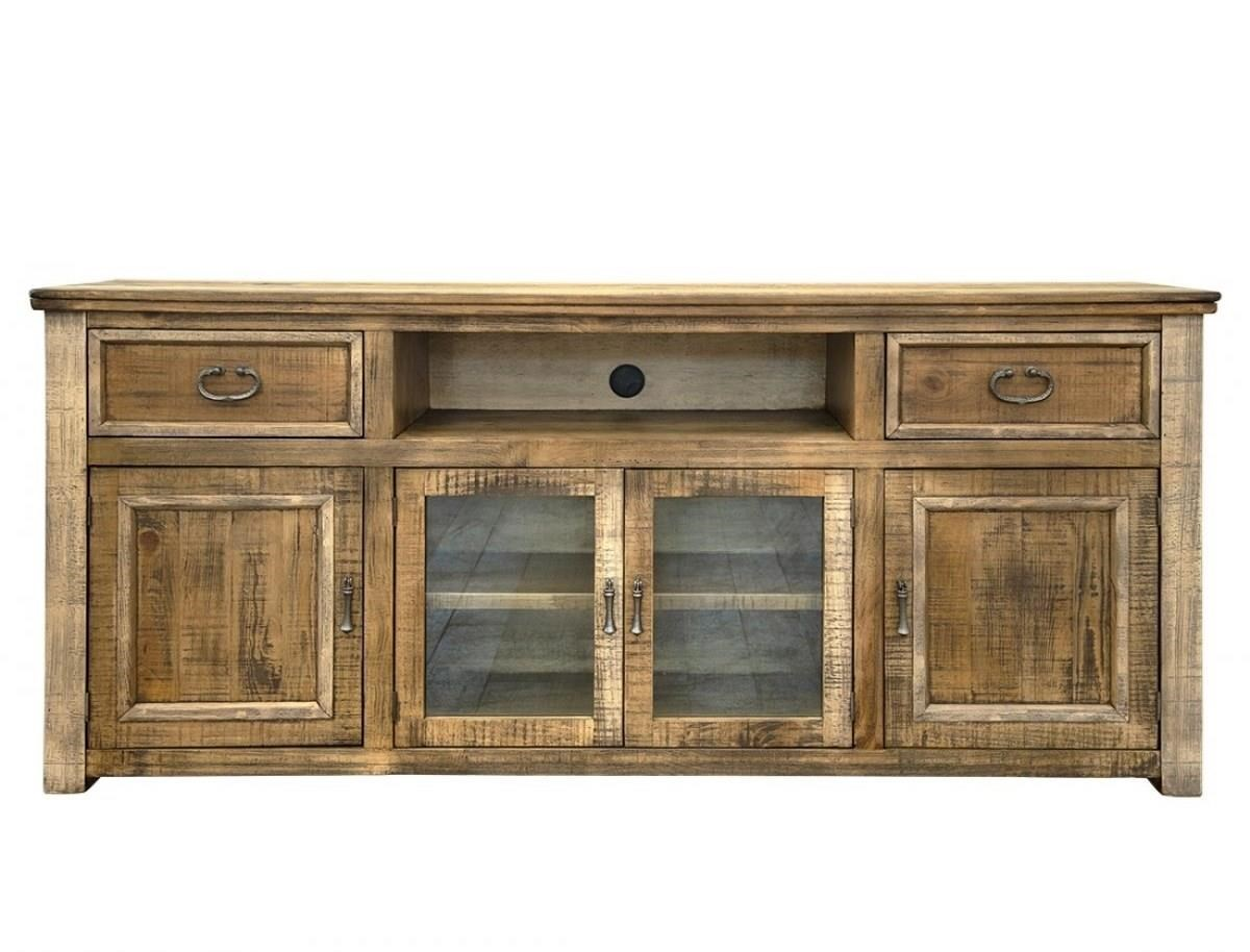 """Montana 80"""" TV Stand with 2 Drawers and 4 Doors by International Furniture Direct at Miller Waldrop Furniture and Decor"""
