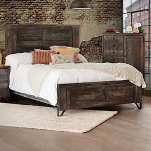 Contempoary Solid Wood Queen Low Profile Bed