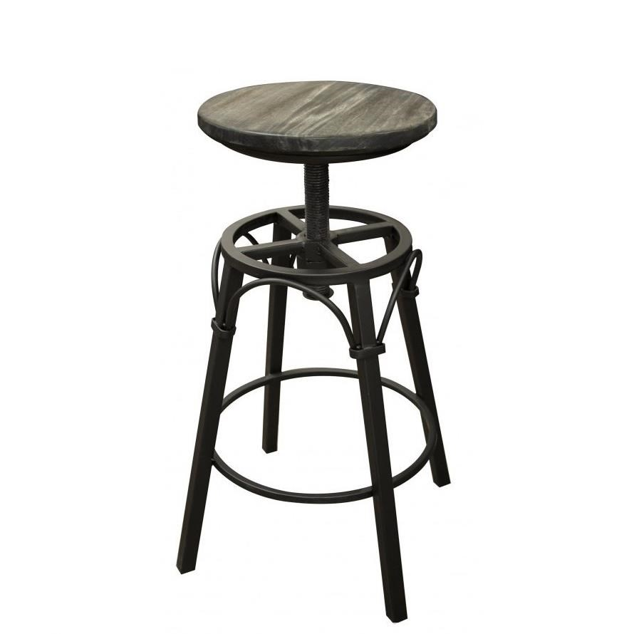 Moro Adjustable Height Iron Swivel Stool by International Furniture Direct at Catalog Outlet