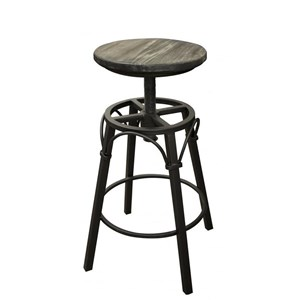Contemporary Adjustable Height Iron Swivel Stool