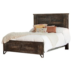 Contemporary Solid Wood Queen Low Profile Bed