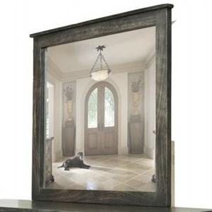 Contemporary Mirror with Solid Wood Frame