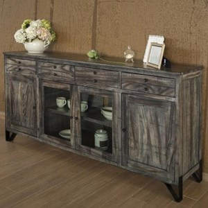 "Contemporary Solid Wood 80"" TV Stand"