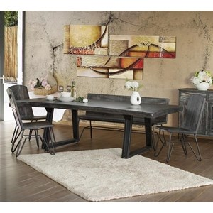 Contemporary 5-Piece Dining Set with Bench