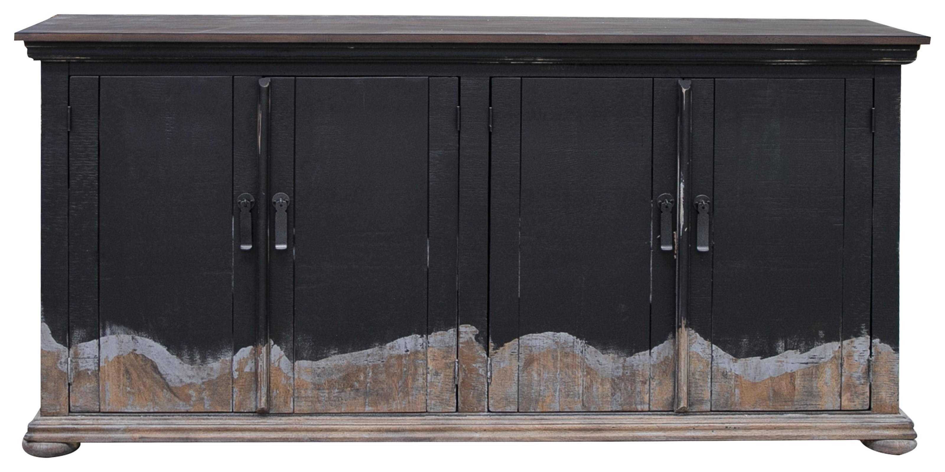 Obsidiana Solid Wood Console by Artisan at Bennett's Furniture and Mattresses