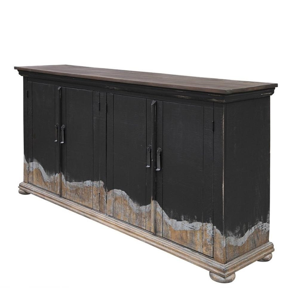 Obsidiana 4 Door Console by International Furniture Direct at Houston's Yuma Furniture