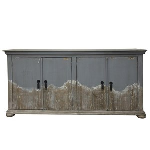 Relaxed Vintage 4 Door Console with Distressed Finish