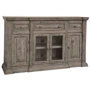 Transitional 3-Drawer, 4-Door Console