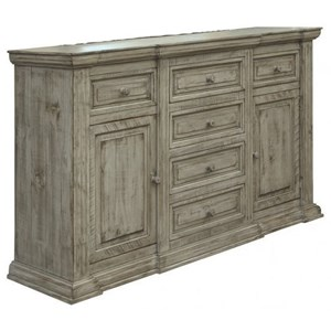 Transitional 6-Drawer Dresser with Felt-Lined Drawers