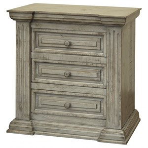Transitional 3-Drawer Nightstand with Felt Lined Drawer