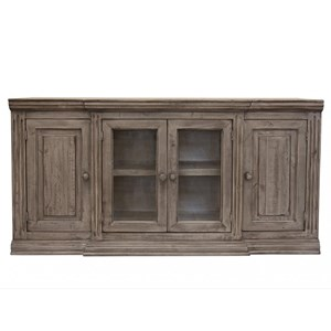 Transitional TV Stand with 4 Doors
