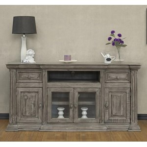 """Transitional 70"""" TV Stand with 2 Drawers and 4 Doors"""
