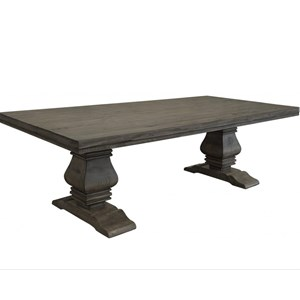 Transitional Solid Wood Dining Table