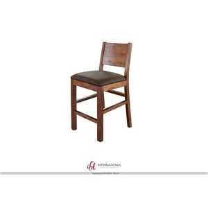 "30"" Bar Stool With Faux Leather Seat"