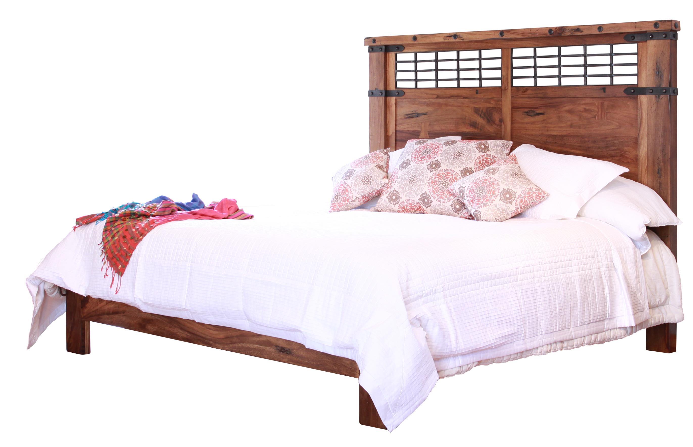 Parota California King Platform Bed by International Furniture Direct at Sparks HomeStore