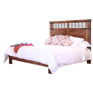Queen Platform Bed with Wrought Iron Detail