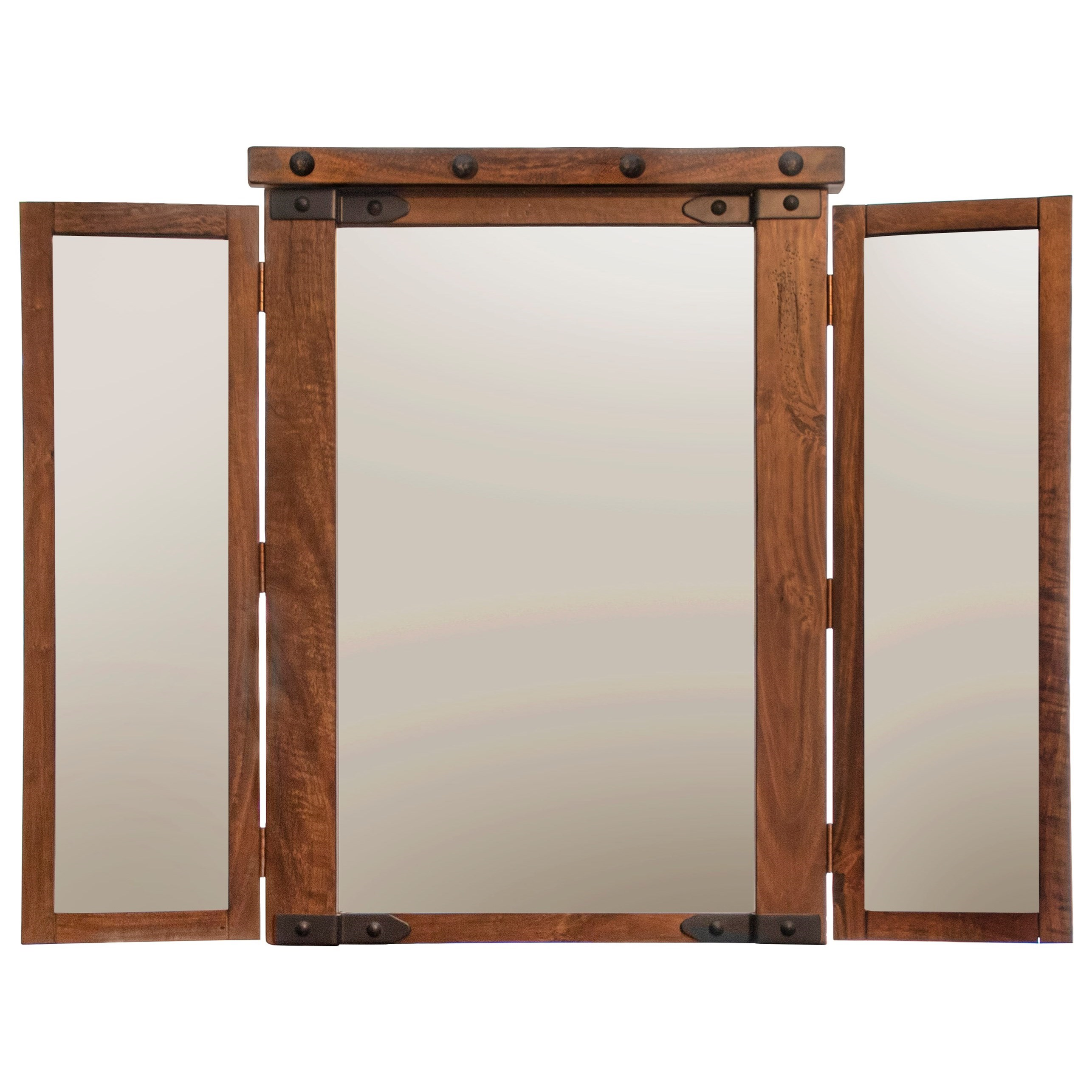 Parota Mirror by International Furniture Direct at Goods Furniture