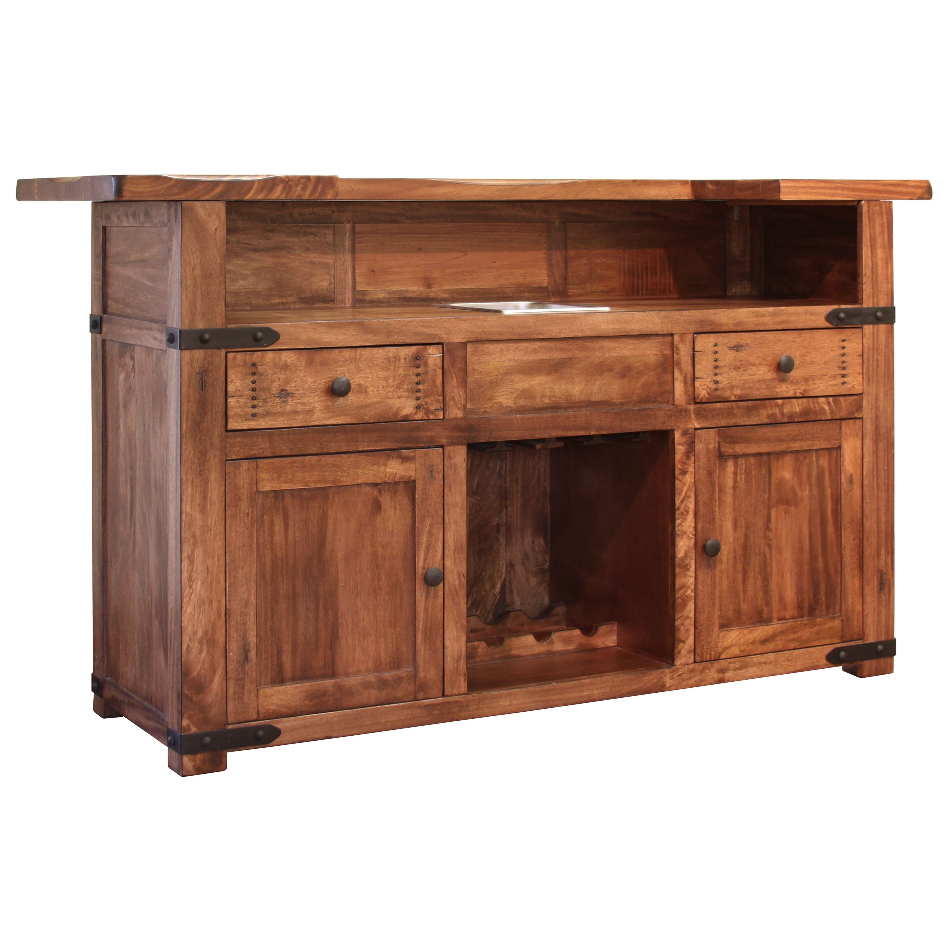 Parota Bar Cabinet by International Furniture Direct at Home Furnishings Direct