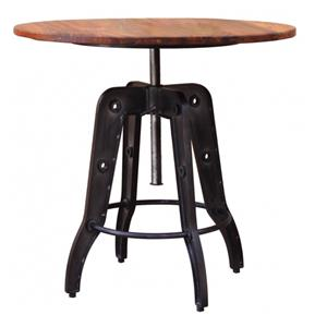 International Furniture Direct Parota Adjustable Height Bistro Table