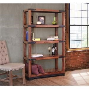"70"" Bookcase with Wooden Shelves"