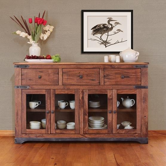 Parota 70 Inch Console by International Furniture Direct at Dinette Depot