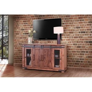 """60"""" TV Stand with 4 Doors & Shelves"""