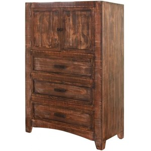 Rustic Solid Wood 3 Drawer and 2 Door Chest