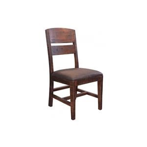 Pueblo Chair with Solid wood back Faux leather seat