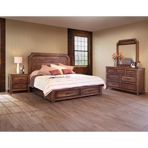 Rustic California King Bedroom Group