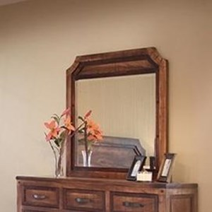 Framed Dresser Mirror with Cut Out Corners