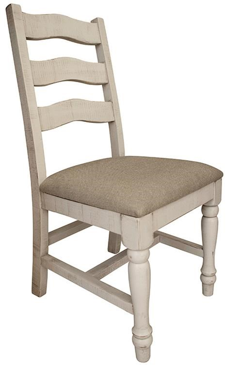 Rock Valley Solid Wood Chair with Fabric Seat by International Furniture Direct at Darvin Furniture