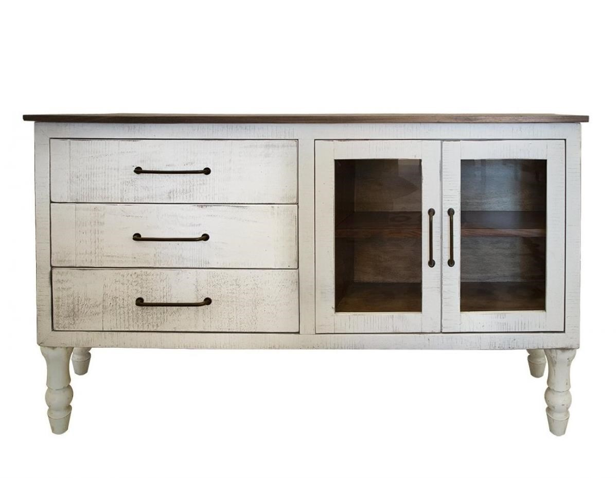 Rock Valley 3 Drawer and 2 Doors Console by International Furniture Direct at Darvin Furniture