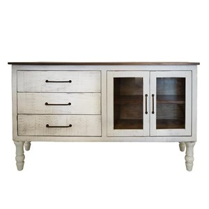 3 Drawer and 2 Doors Console