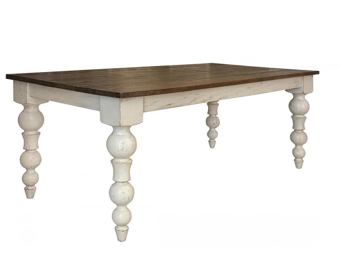 Rock Valley Dining Table with Turned Legs by International Furniture Direct at Darvin Furniture